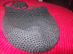 Vintage Black Crocheted Bag, Black Purse by vintagecitypast on Etsy
