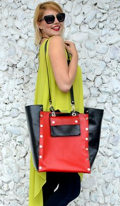 Now trending: Black and Red Genuine Leather Bag, Large Natural Leather Handbag, Large Black and Red Tote TLB18, The FRENCH KISS https://www.etsy.com/listing/521028293/black-and-red-genuine-leather-bag-large?utm_campaign=crowdfire&utm_content=crowdfire&utm_medium=social&utm_source=pinterest