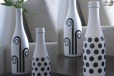 DIY – Garrafas de Vidro Decoradas!!   Noivinhas de Luxo