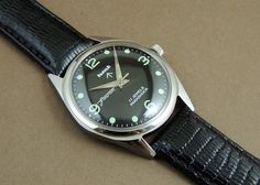 Vintage HMT Jawan HandWind 17Jewel India Mechanical Black 2 Dial Military Watch #HMT #Casual