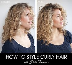 Hair Romance - Before and after - how to style curly hair