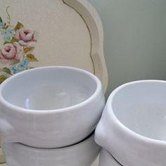 Lion Head White Soup Bowls White Soup, Soup Bowls, French Interiors, Lion, Tray, Shabby, Romantic, Tableware, Vintage