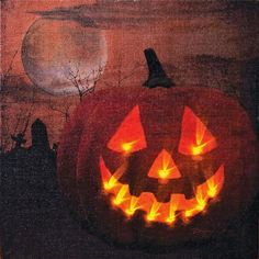 This is the one that started the craze!    Lighted Canvas - Radiance Jack O' Lantern