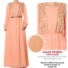 Sweet Pastel Chiffon Laced Abaya Muslim Islamic S/M by MissMode21, $34.00 FREE SHIPPING WORLDWIDE