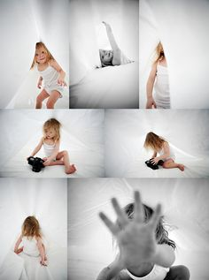 under the sheets shot! love the idea, white ambient, soft light... and so much fun for them