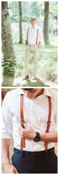 Wedding Groomsmen Leather Suspenders Party Suspenders Men's Suspenders Casual Suspenders0191
