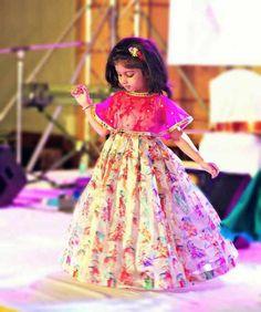 Kids Lehenga Choli Designs For Weddings In 2019 – FashionEven Baby Girl Frocks, Frocks For Girls, Dresses Kids Girl, Kids Outfits, Designer Dresses For Kids, Kids Frocks Design, Baby Frocks Designs, Kids Lehanga Design, Kids Dress Wear
