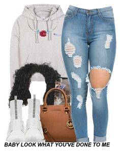 """""""#Emotionless"""" by trapanese-kids ❤ liked on Polyvore featuring Vetements, MICHAEL Michael Kors and Puma"""