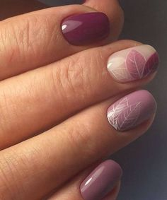Beautiful Festive Leaf Nail Art Designs #nailart