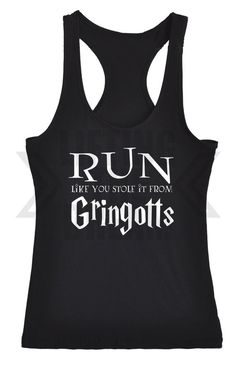"""Pin for Later: Say """"Accio Abs"""" at the Gym With These Harry Potter Workout Shirts Yet Another Reason to Run . . . Especially If You're Outrunning a Gemino Curse Run Like You Stole It From Gringotts ($22)"""