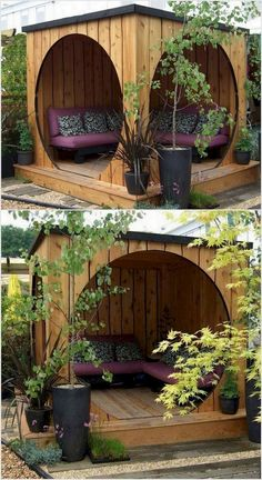 Stunning 16 Amazing Smart Ways to Make Your Garden Palettes … - Diy Garden Projects Diy Garden, Garden Projects, Garden Landscaping, Garden Beds, Garden Plants, Hot Tub Cover, Pinterest Garden, House Of Beauty, Pallets Garden