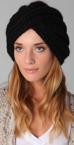 Guess who's going to be sporting a knit turban hat this winter? Yup.. me.
