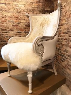 Sit right down in this cushy glamourous French Chic chair, aptly named after my fellow Hungarian American movie star Ava Gabor, Sister to *Zsa Zsa. Funky Furniture, Furniture Upholstery, Upholstered Chairs, Shabby Chic Furniture, Furniture Makeover, Furniture Design, Cowhide Furniture, Furniture Buyers, Furniture Showroom