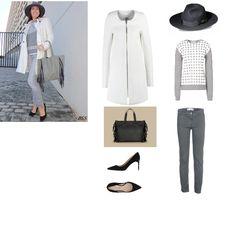 Look abrigo blanco