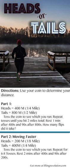 Heads Or Tails Running Workout! Fun way to log in some speed work. #run #fitfluential #speedworkout #trackworkout