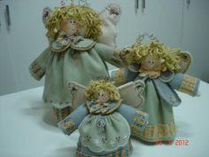 Trio de anjos | Carmelitas de Pano | 2972FC - Elo7