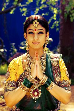 Namaste! The Indian Tradition, Culture, Grace, Jewelry, Spirituality and Beauty - All personified right, here, in this one image of an Indian-Bride.