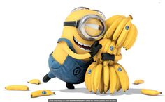 Minion Bananas HD wallpaper for your PC, Mac or Mobile device