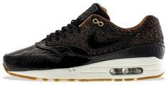 Nike Air Max 1 FB Woven Leopard Sneakers Licht Zwart - Geel - Wit,HOT