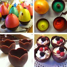 chocolate cups christmas new year table decor ideas