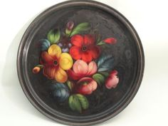 """VINTAGE RUSSIAN TOLE PLATE CHARGER ~ 11.5"""""""
