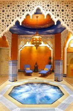 Moroccan baths--wonder how out of place this would look in Hudson, WI