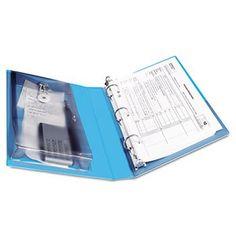 "Protect & Store View Mini Binder, Round Ring, 5-1/2 x 8-1/2, 1"" Capacity, Blue"