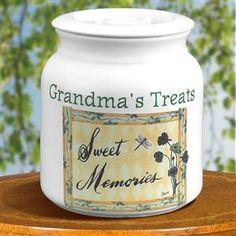 Personalized Stoneware Sealed Cookie Jar