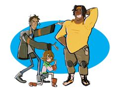 """soapysheeps: """"*gestures wildly* HUNK """" @sunken-floater In which you are Hunk and I am Lance and Pidge"""
