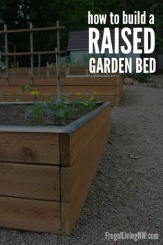 How to build a raised garden bed -- Step-by-step instructions