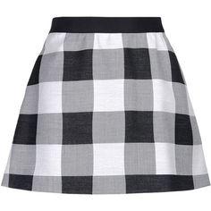 Neil Barrett Mini Skirt ($225) ❤ liked on Polyvore featuring skirts, mini skirts, black, short mini skirts, short tube skirt, checkerboard skirt, tube skirt and elastic waist mini skirt
