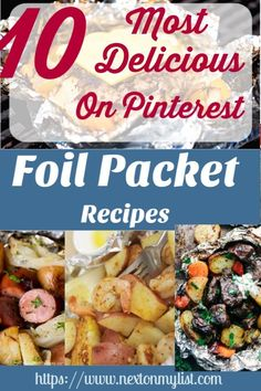 10 Most Delicious Foil Packet Dinners - Next On My List Steak Foil Packets, Salmon Foil Packets, Chicken Foil Packets, Tin Foil Meals, Foil Packet Dinners, Cabbage And Sausage, Cooked Cabbage, Grilling Recipes, Beef Recipes