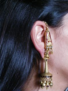 Moda Indiana, Rajputi Jewellery, Indian Fashion, Bright, Earrings, Gold, Jewelry, Style, Indian Earrings