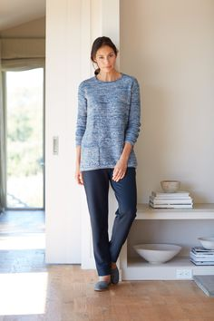 Pure Jill marled sweater
