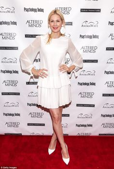 White is her colour: Kelly Rutherford showed her sassy side in a two-piece at the Altered ...