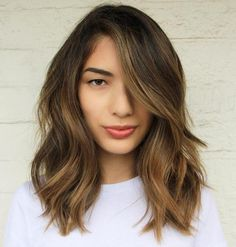 Brown Balayage Medium Length Hair