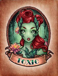 Superhero Pinup Poison Ivy