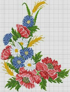 This Pin was discovered by Hul Cross Stitch Pillow, Cross Stitch Rose, Cross Stitch Flowers, Cross Stitch Charts, Cross Stitch Patterns, Cross Stitching, Cross Stitch Embroidery, Embroidery Patterns, Hand Embroidery