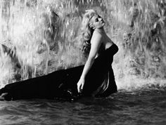 Anita Ekberg in the Trevi Fountain, from the movie La Dolce Vita.