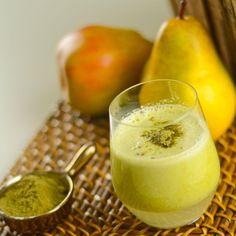 Lavez tous les fruits à l'eau claire. Avocado Juice, Smoothie Diet, Glass Of Milk, Panna Cotta, Brunch, Food And Drink, Gluten, Pudding, Breakfast