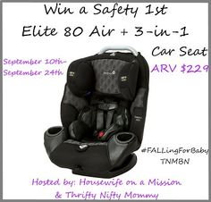 #WIN a @Safety_1st Elite 80+ Car Seat | 9/24 #giveaway #baby #carseat #babyshower