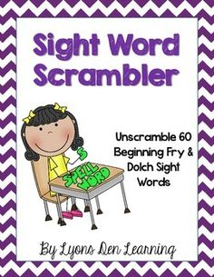 Your students will love the Word Scrambler. Watch their confidence grow and spelling skills strengthen as students unscramble 60 beginning sight words adapted from the Dolch and Fry sight word lists.