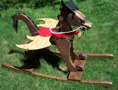 The Wooden Dragon Toy Company Plywood Projects, Diy Craft Projects, Rocking Horse Plans, Rocking Horses, Woodworking For Kids, Woodworking Projects, Kids Workbench, Scrap Wood Crafts, Kids Wood