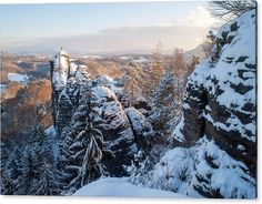 Jenny Rainbow Fine Art Photography Acrylic Print featuring the photograph Snowy Rocks Of Saxon Switzerland by Jenny Rainbow Art Prints For Home, Fine Art Prints, Framed Prints, Thing 1, Time Art, Beautiful Artwork, Art Techniques, Beautiful Landscapes, Fine Art Photography