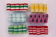 All In One Days Time: Felt Ribbon Candy