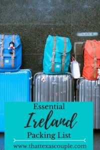 Are you planning a trip to Ireland? Make sure you have all the essentials that you need with this awesome Ireland packing list! #ireland #packinglist #travel #irelandtips