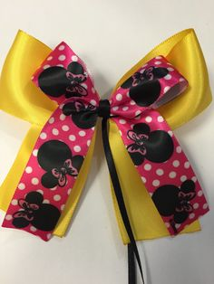 A personal favorite from my Etsy shop https://www.etsy.com/listing/223255478/minnie-mouse-inspired-hair-bow