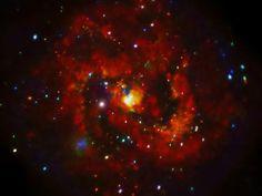 Raios-X de um remanescente de supernova jovem