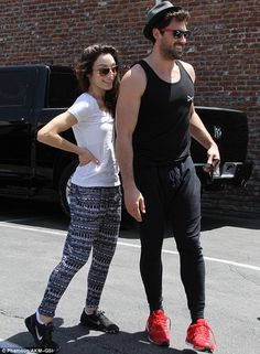 Ready to move: Meryl Davis, 27, and 34-year-old pro dancer Maksim Chmerkovskiy beamed as they arrived at the Dancing With The Stars rehearsals in Hollywood on Saturday