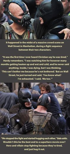 Batman and Bane.